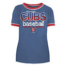 Chicago Cubs Youth Girls Ringer Triblend T-Shirt