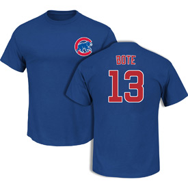Chicago Cubs David Bote Name and Number T-Shirt