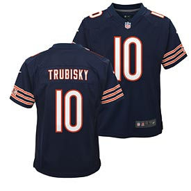 Chicago Bears Mitch Trubisky Youth Nike Game Replica