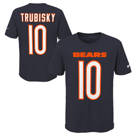 Mitchell Trubisky Youth Player Name and Number T-shirt