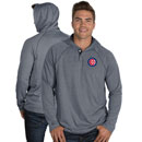 Chicago Cubs Captain Hooded Henley Long Sleeve T-Shirt