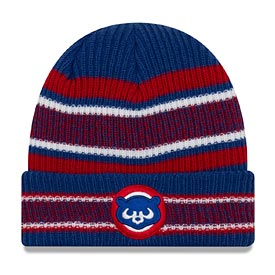 Chicago Cubs 84 New Era Stripe Cuffed Knit Hat