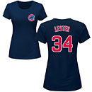 Chicago Cubs Jon Lester Ladies Navy Name and Number T-Shirt