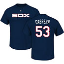 Chicago White Sox Melky Cabrera Cooperstown Name and Number T-Shirt
