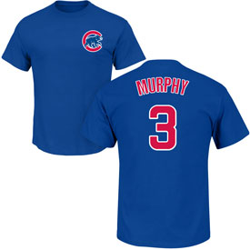 Chicago Cubs Daniel Murphy Name and Number T-Shirt