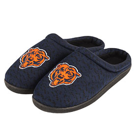 Chicago Bears Poly Knit Sole Slide Slippers