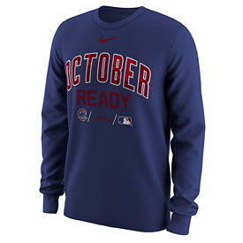 Chicago Cubs October Ready Post Season Long Sleeve T-Shirt