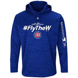 Chicago Cubs Royal 2018 Postseason Authentic Collection Hooded Streak Fleece