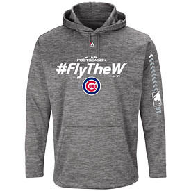 Chicago Cubs Gray 2018 Postseason Authentic Collection Hooded Streak Fleece