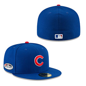 Chicago Cubs 2018 Postseason Authentic 59FIFTY Fitted Cap