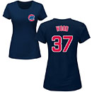 Chicago Cubs Travis Wood Ladies Navy Name and Number T-Shirt