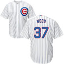 Chicago Cubs Travis Wood Home Cool Base Replica Jersey