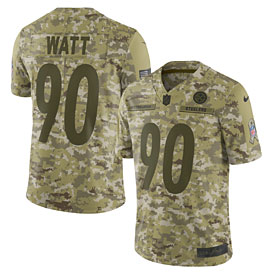 T.J. Watt Pittsburgh Steelers Nike Salute to Service Limited Jersey – Camo