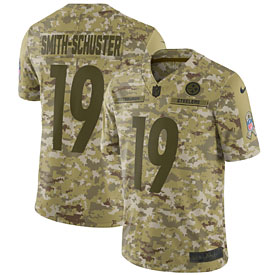 JuJu Smith-Schuster Pittsburgh Steelers Nike Salute to Service Limited Jersey – Camo