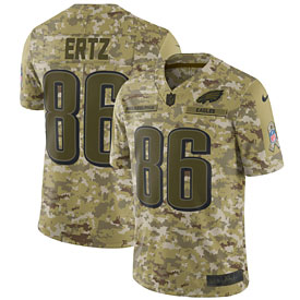 Zach Ertz Philadelphia Eagles Nike Salute to Service Limited Jersey – Camo