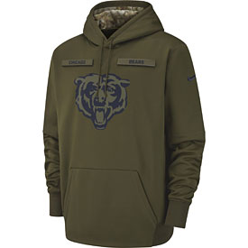 Chicago Bears Nike Salute to Service Pullover Performance Hoodie - Green