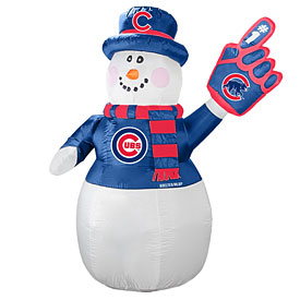Chicago Cubs 7ft Inflatable Snowman