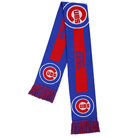 Chicago Cubs Big Logo Colorblock Scarf