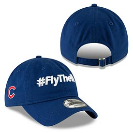 Chicago Cubs #Fly The W Slogan Adjustable Cap