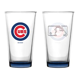 Chicago Cubs Embossed Pint Glass