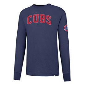 Chicago Cubs Wordmark Fieldhouse Long Sleeve T-Shirt