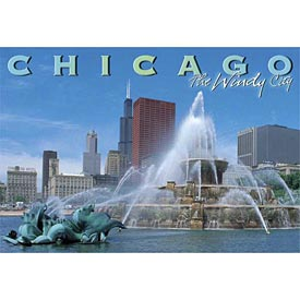 Chicago Buckingham Fountain Postcard