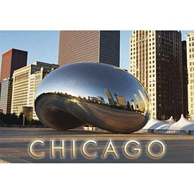 Chicago Bean Postcard