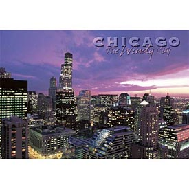 Chicago Skyline at Dusk Postcard