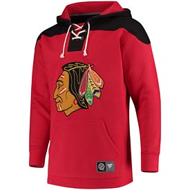 Chicago Blackhawks Fanatics Branded Breakaway Lace Up Hoodie – Red/Black