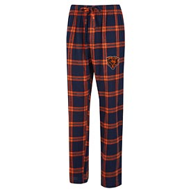 Chicago Bears Concepts Sport Homestretch Flannel Pants – Navy/Orange