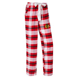 Chicago Blackhawks Women's Headway Flannel Pants – Red/Black