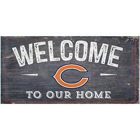 Chicago Bears Distressed Welcome To Our Home Wood Sign