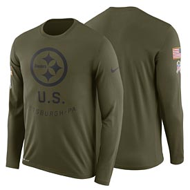 Pittsburgh Steelers Nike Salute to Service Sideline Legend Performance Long Sleeve T-Shirt