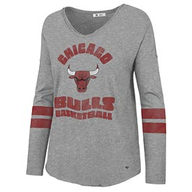 Chicago Bulls Ladies Courtside Long Sleeve T-Shirt