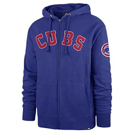 Chicago Cubs Striker Full Zip French Terry Hoodie