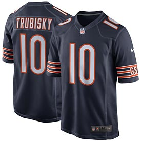 Chicago Bears Mitchell Trubisky Game Replica Jersey