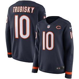 Chicago Bears Mitchell Trubisky Ladies Therma Long Sleeve Jersey