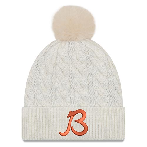 "Chicago Bears Ladies Ivory ""B"" Logo Knit Pom"