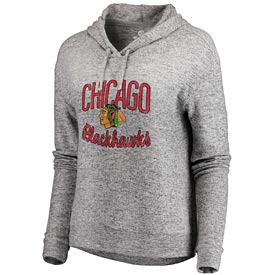 Chicago Blackhawks Women's Cozy Collection Steadfast Lightweight Pullover Hoodie