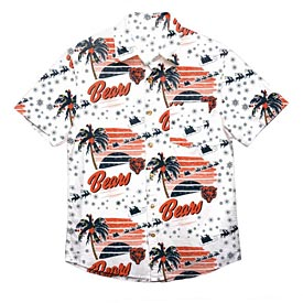 Chicago Bears Tropical Holiday Print Button Up Shirt