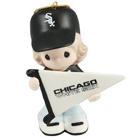 Chicago White Sox Little Girl Precious Moments Ornament
