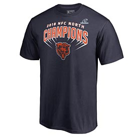 Chicago Bears 2018 Division Champions Locker Room T-Shirt