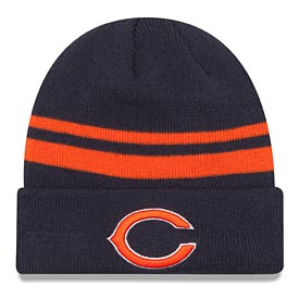Chicago Bears Striped Cuffed Knit